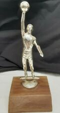 VINTAGE  Basketball Trophy Metal Wood Base