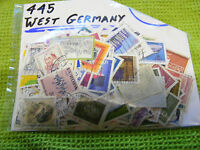 Lot of 445 West Germany stamps in excellent condition, pre-unification.