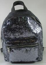 Mossimo NWT $88 Splendid Backpack Handbag Gray Sequins Zip Close Front Pocket