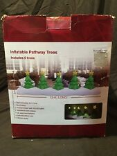 12' Inflatable Holiday Trees Pathway with Stars - Airblown Christmas Yard Decor