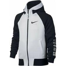Nike Air 97 Full Zip Black & White Boys Hoodie Fleece Size 4 5 Years Old