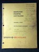 New Holland Service Parts Catalog Model L-445 Skid Steer Loader *563