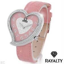 RAYALTY GS9014PINK HEART Brand New Swiss Movement Watch 0.50cwt Genuine Diamonds