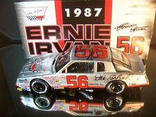 Ernie Irvan #56 Dale Earnhardt Chevrolet Silver AUTOGRAPHED 1987 Chevrolet M.C.