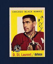 Dollard St. Laurent signed Chicago Blackhawks 1959 Topps hockey card
