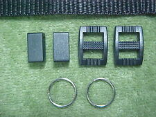 NEW BUCKLES, KEEPERS, SPLIT RINGS, & NYLON PARTS FOR CAMERA STRAP REPAIR
