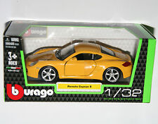 Burago - PORSCHE CAYMAN S (Yellow) Model Scale 1/32