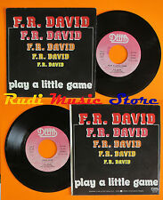 LP 45 7'' F.R. DAVID Play a little game Rock fame 1983 italy DELTA cd mc dvd *