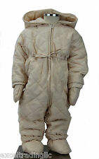 JACADI Girls's Ataxie Sand Snowsuit / Gloves / Slippers Size 6 Months NWT $94