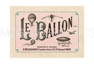 "VINTAGE REPRODUCTION - LE BALLON, ca. 1883 - ART PRINT POSTER 13"" x 19"" (1595)"