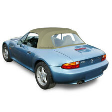 BMW Z3 1996-2002 Convertible Soft Top & Plastic Window Tan Twillfast II Canvas