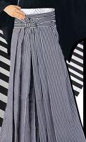 Japanese Men's Traditional Kimono HAKAMA Pants Polyester Striped from JAPAN