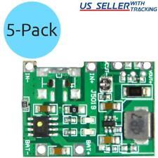5pcs Tp4056 37v 42v Dc Battery Charger Module With Step Up Boost 5v12v Output