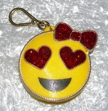 BATH & BODY WORKS EMOJI GIRL POCKETBAC HOLDER WITH CLIP/ KEYCHAIN SO CUTE!