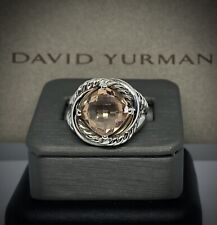 David Yurman Sterling Silver Infinity Ring With Morganite Size 7