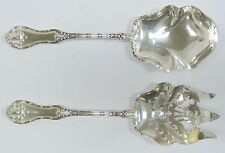 HOWARD STERLING SILVER 1899 JOSEPHINE 2 PIECE SERVING SET SPOON/FORK