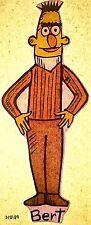 Vintage 70s Bert Iron-On Transfer Sesame Street TV Show RARE!