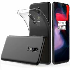Oneplus 6 Slim Crystal Clear Transparent Silicone Gel Shockproof TPU Case Cover