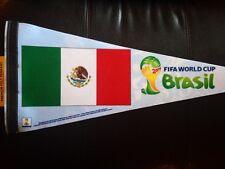 2014 FIFA World Cup Brazil Premium Felt Pennant MEXICO Official Flag