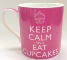 Keep Calm and Eat Cupcakes Coffee Tea Mug Cup Pink NEW