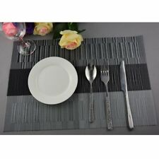 Jacquard Table Mats Dining Place Set of 4 Washable PVC Heat Resistant Party Mat