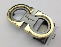Ferragamo Belt Buckle Double Gold Gancini Mens Womens Belts