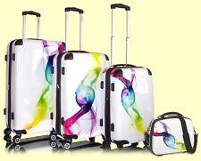 Luxus Trolley Set Trolly Reisekoffer Koffer Boardcase Beautycase Wave Check In