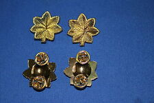 US WW2 STYLE MAJOR OAKLEAVES GOLD METAL COLLAR RANK ARMY AAF WAC NURSE ETC