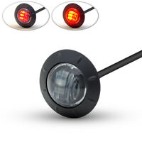 """Motorbike LED Stop Taillight 2"""" 50mm for Rear Mudguard of Cafe Racer Smoked Lens"""