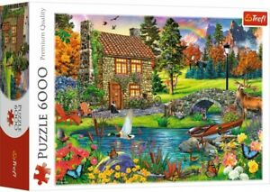 6000 pieces Jigsaw Puzzle - House in the Mountains - Perfect Christmas Gift -NEW