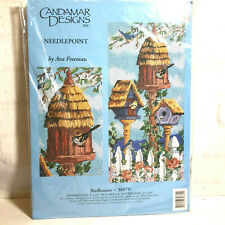 Candamar Designs Needlepoint Kit Birdhouses Ava Freeman