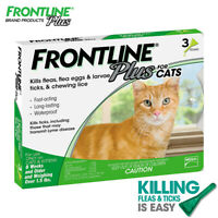 FRONTLINE Plus Flea and Tick Treatment for Cats and Kittens - 3 Doses