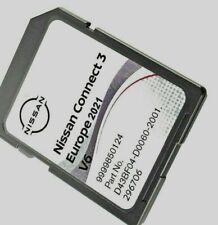 GENUINE NISSAN CONNECT 3 V6 MAPS LATEST SAT NAV SD CARD 2021