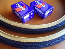 *New 700x35c Pair of Gum Wall Tires + Tubes Road Fixie Bike Black/Gum 700c