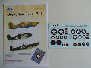 Blackbird Models decals 1/72 Operation Torch Pt.3 Hurricane, Seafire & Martlet