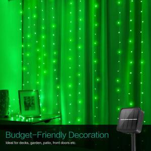 1*10m Waterproof 100&LED Solar Fairy String Strip_Light Wedding Party Xmas Decor