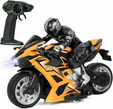 Click N' Play High Speed RC Remote Control Stunt Motorcycle with Riding Figure