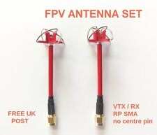 Aomway fpv clover leaf antennes set VTX & rx excellente qualité RP-SMA rhcp uk