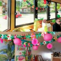 Tropical Paper Flower Garland Banner String Colorful Banner