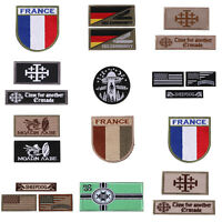 Embroidered Sew Flag Patch Hook Back Tactical Morale Badge Bag Clothes Patches