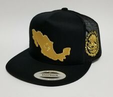 TAMAULIPAS   MAPA DE  MEXICO HAT  MESH TRUCKER   BLACK 2LOGOS   SNAP BACK   NEW