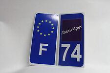 2 stickers REFLECHISSANT département 74+F