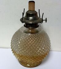 Vintage Anchor Hocking Oil Lamp Amber diamond Point