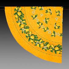Tischdecke Rund Gelb mit Zitronen 180 cm Provence NEU 100 % Baumwolle