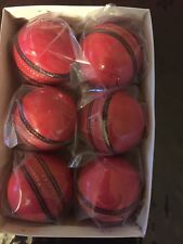 6 pink cricket ball made with cowhide leather grade A