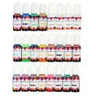 24 High Concentrated Alcohol-Base Ink Pigment Epoxy Resin Paint Colour Dye Craft