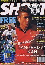 KAN MAN UTD Shoot + GIANT SHEARER / MAN CITY POSTER Shoot 12 Nov 1994