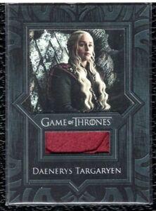 2019 Game of Thrones Inflexions Daenerys Targaryen Cape Piece Relic Card # VR9