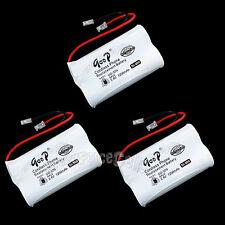 3 PCS Cordless Phone Replacement Battery GD-509 2.4V Volt NIMH 1200mAh