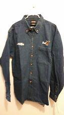 Chase Authentic Denny Hamlin #11 Fed Ex JGR Denim Shirt Size Large NWT